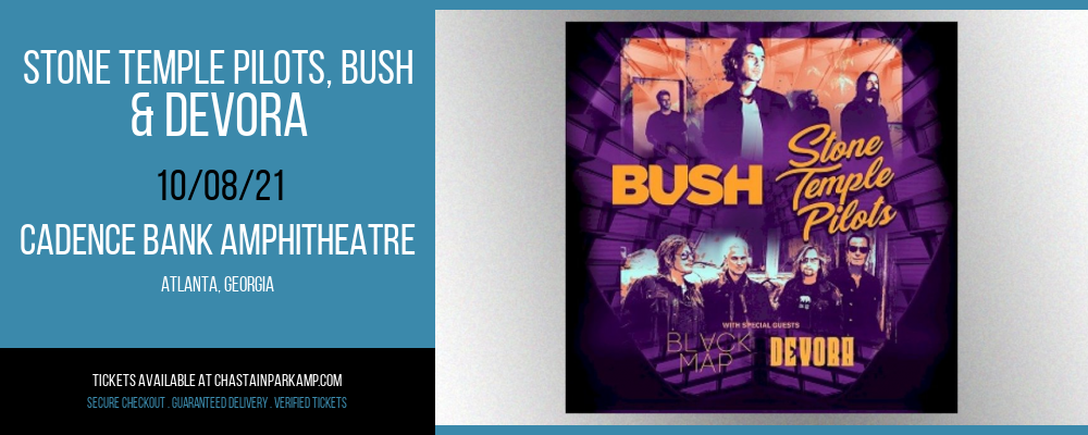 Stone Temple Pilots, Bush & Devora [CANCELLED] at Cadence Bank Amphitheatre